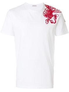 футболка с вышивкой Moncler
