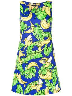 А-образное платье с банановым принтом  Love Moschino