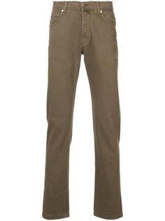 повседневные брюки прямого кроя Kiton