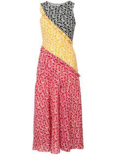 платье без рукавов с панельным дизайном Saloni