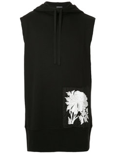 floral embroidered sleeveless hoodie Ann Demeulemeester