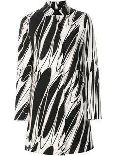 пальто с абстрактным принтом  Herno