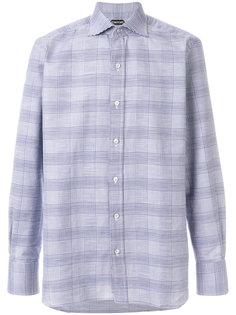 spread collar plaid shirt Tom Ford
