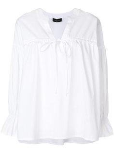 блузка с длинными рукавами со сборным дизайном Roberto Collina