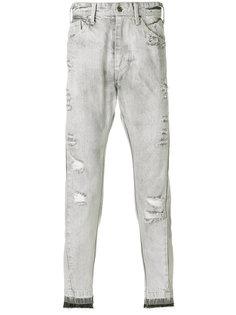состаренные джинсы  Julius