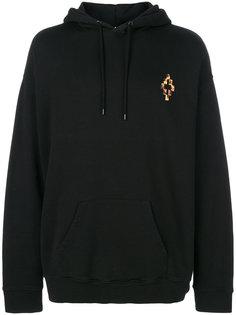 fire cross oversized hoodie Marcelo Burlon County Of Milan