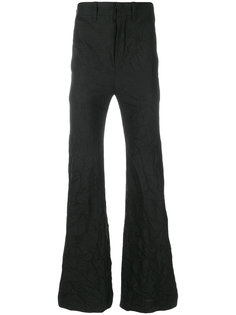 crinkle design flared trousers Ann Demeulemeester Icon