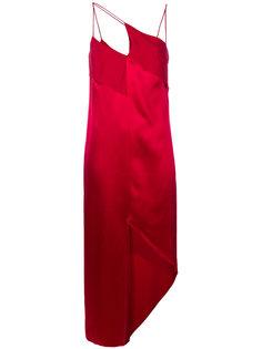платье шифт с диагональной лямкой Dion Lee