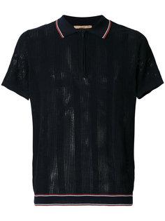zipped neck polo shirt  Nuur