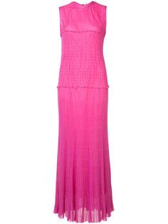 длинное платье с плиссировками Calvin Klein