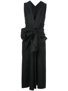 платье с V-образным вырезом и бантом Tome