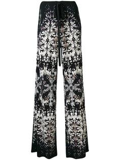 расклешенные брюки с принтом  Roberto Cavalli