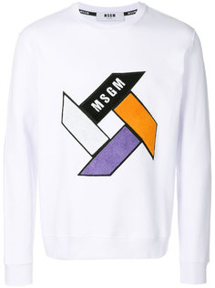 geometric pattern sweatshirt MSGM