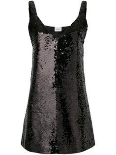 платье с пайетками и V-образным вырезом Dondup