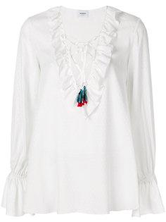 блузка с воротником с оборками Dondup