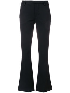 flared cropped trousers Dondup