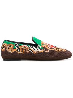 cross stitch slippers Loewe