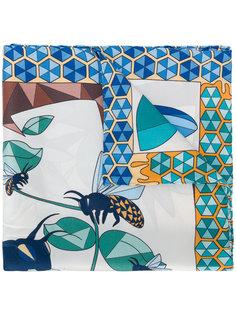 шарф с геометрическим принтом с пчелами Cha•Val Milano