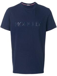 футболка с тиснением логотипа Moncler
