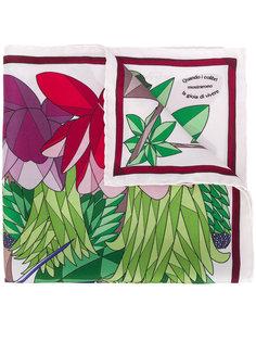 шарф с геометрическим принтом с птицами  Cha•Val Milano