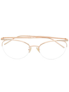 очки в круглой оправе Boucheron