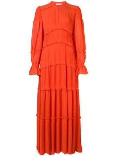 платье макси со сборками Tory Burch