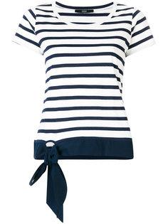 striped T-shirt with bow detail Steffen Schraut
