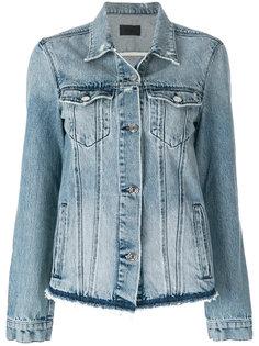 джинсовая куртка с бахромой  Rta
