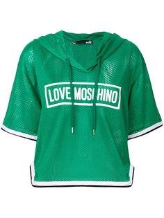 футболка с капюшоном Love Moschino