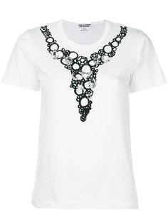 футболка с отделкой на вороте  Comme Des Garçons Comme Des Garçons