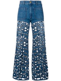 расклешенные джинсы с вырезным дизайном The Seafarer