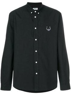 саржевая рубашка на пуговицах с тигром  Kenzo