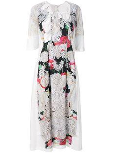 платье с перфорацией и цветочным принтом Comme Des Garçons Comme Des Garçons