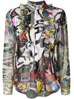 блузка с рисунком Comme Des Garçons