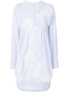 платье-рубашка в полоску с круглым вырезом  Ermanno Scervino