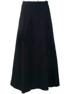 юбка-миди с необработанными краями Comme Des Garçons