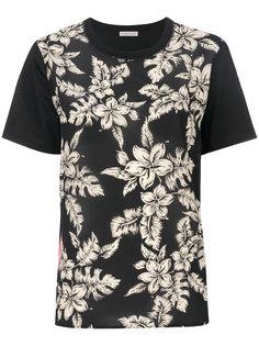 футболка с цветочным принтом Moncler