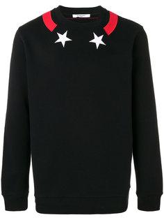 толстовка с нашивками звезд Givenchy