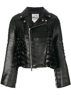 байкерская куртка с оборкой  Comme Des Garçons Noir Kei Ninomiya