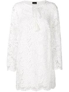 короткое кружевное платье Ermanno Scervino