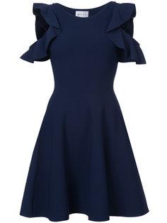 платье с открытыми плечами и расклешенной юбкой Milly