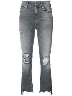 рваные укороченные джинсы Mother