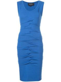 присборенное платье длиной до колена Nicole Miller
