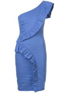 платье узкого кроя на одно плечо Nicole Miller