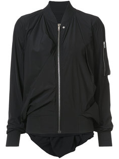 куртка-бомбер с драпировками Rick Owens