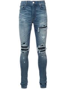 рваные облегающие джинсы в байкерском стиле Amiri