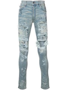 облегающие рваные джинсы Amiri