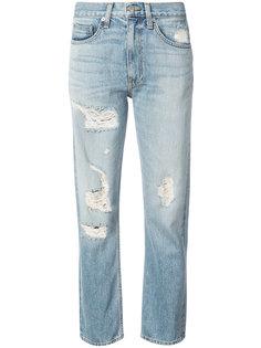 прямые джинсы с декоративными дырами Brock Collection