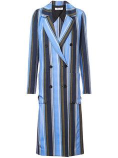 полосатое двубортное пальто Dvf Diane Von Furstenberg
