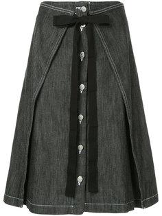 джинсовая юбка с бантом Mm6 Maison Margiela
